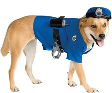 Pet Dog Cat Police Officer Cop Halloween Fancy Dress Costume Outfit Clothes S-XL