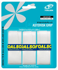 3 Toalson Asterisk Grips/Overgrips - Choice Of Colours - Free P&P
