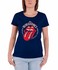 Rolling Stones T Shirt 50th Anniversary tongue logo Official Womens Skinny Fit