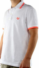 Maglia Polo T-Shirt Maniche Corte Uomo Fred Perry T-Shirt Men Shirt Sleeves Whit
