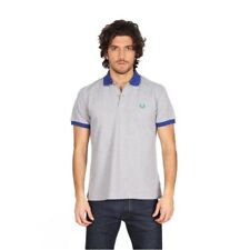 Polo T-shirt Maglia Uomo men Fred Perry Made in Italy Slim Fit special grigio bl