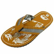 MENS TAN TOE-POST SUMMER FLIP-FLOP HOLIDAY BEACH COMFY SANDALS SHOES SIZES 6-10