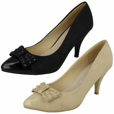 Ladies Spot On Court Shoes with Bow Detail Style - F9644 - D