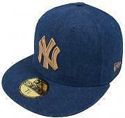New Era MLB New York Yankees Rustic Cap 59fifty Basic Fitted Basecaps Kappe Mens