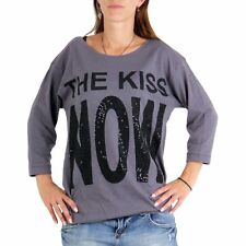 DECAY Premium Collection Damen Shirt The Kiss Now Grey MD345