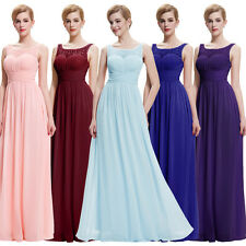 Ladies Long Bridesmaid Dress Wedding Party Evening Formal Chiffon Prom Ball Gown