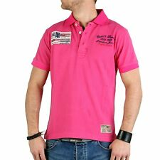 GEOGRAPHICAL NORWAY GANGSTER UNIT Herren Polo Shirt Korigan Pink