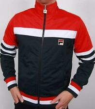 Fila Vintage - Vilas Court Track Top in Navy Red White / Dyer Borg Mk1 80s SALE