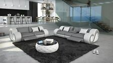 Leather Sofa set Sofa set NESTA 3 Seat and 2 seat With Lighting