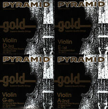 PYRAMID GOLD Violin Geige Saiten SATZ - Violin Strings SET