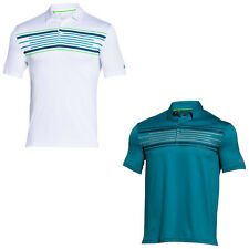 UNDER ARMOUR MENS COLDBLACK HOLE OUT POLO SHIRT - NEW UA SHORT SLEEVE GOLF TOP