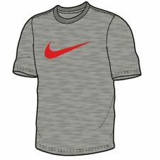Nike Mens Grey Red Tick T Shirt Tee Chest Swoosh Short Sleeved Top Size XS-XXL