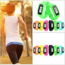 Digital Pedometer UK Walking Step Distance Calorie Counter Run Fitness Belt Clip
