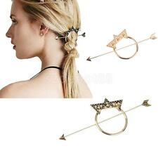 Vintage Beautiful Star Arrow Dot Triangle Updo Hoop Hair Pin Clip Stick