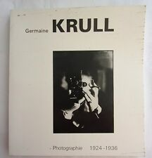 livre  GERMAINE KRULL  Photographies  1924 - 1936
