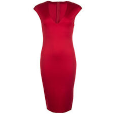 Womens Ax Paris V Front Bodycon Dress In Red From Get The Label