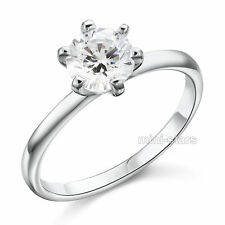 1 Ct Fidanzamento Artificiali Diamante Sterling 925 Anello Argento FR8027