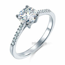 1.25 Ct Artificiali Diamante Fidanzamento Sterling 925 Anello Argento FR8030