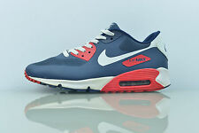 NIKE AIR MAX 90 HYPERFUSE NAVY MENS TRAINERS VERY GOOD CONDITION SIZE UK 8.5
