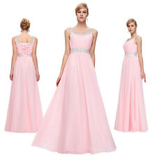 Pink Evening dresses Prom Wedding Bridesmaid Long Formal Party Ball Gowns