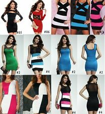 Sexy Women Lace Hollow Sheer Club Party Cocktail Clubwear Bodycon Pencil  Dress