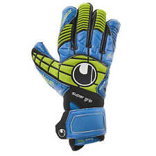 Uhlsport Eliminator Supergrip Torwarthandschuhe Gloves EM 2016 blau/power grün