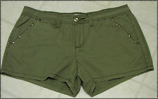 Ladies Route 66 Green Khaki Shorts -NWT