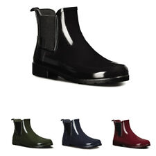 Ladies Hunter Original Refined Chelsea Gloss Winter Wellingtons Boots All Sizes