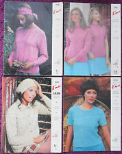Emu Knitting Patterns Womens Sweaters Cardigans - Choose from Drop-down Menu