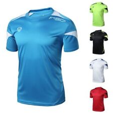 Mens Sport Running Casual  Gym Quick Dry Stretch Top Tee Shirt T-Shirt Fitness