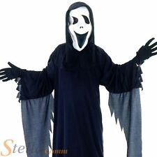 Children's Demon Ghost Scream Halloween Fancy Dress Costume & Mask Ages 4-12