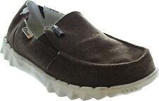 Hey Dude Farty Chalet Men's Chocolate Wool Faux Fur Lined Slip On Loafers New