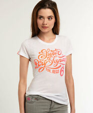 New Womens Superdry Phat Nib T-shirt Optic