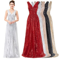 Sexy Ladies Sequins Formal Evening Prom Gown Cocktail Party Dress Elegance