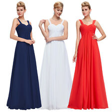 Long Formal Evening Party Maxi Prom Gown Chiffon Bridesmaid Cocktail Dress
