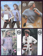 Sirdar Womens Knitting Patterns Waistcoats Sweaters - Choose from Drop-down Menu