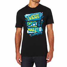 Vans T-Shirts - Vans Stenciled II T-Shirt - Black/Seaport