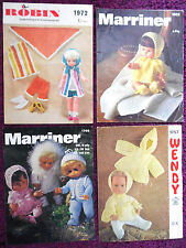 Various Doll's Premature Clothing Knitting Patterns - Choose from Drop-down Menu