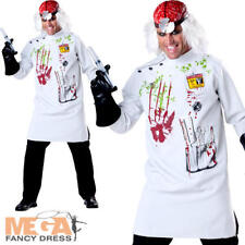 Mad Scientist Mens Halloween Fancy Dress Zombie Horror Adults Costume Outfit New