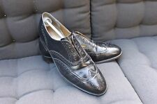 SUPERB  VINTAGE MENS GENTS BARKERS FOR RUSSELL &BROMLEY BLACK BROGUE SHOES 12 G