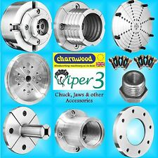 Charnwood Viper3 4 Geared Scroll Lathe Chuck jaws face bowl plate pin dovetail