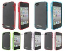 BONAMART Slim TPU PC Glow in the Dark Schutzhülle Case Tasche f iPhone 4 4s 4G