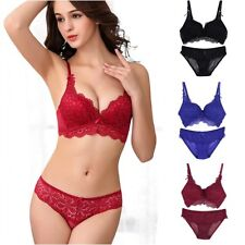 Sexy Women Ladies Floral Bras Sets Soft Lingerie Lace Bras and panty Cup 32-36 B