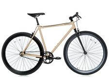 Bici Bicicletta Fixie Bike Scatto Fisso Single Speed & Fixed Gear - Black/Beige
