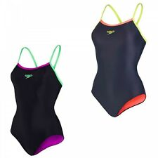 Speedo Damen Badeanzug Schwimmanzug Powerflash Thinstrap Muscleback
