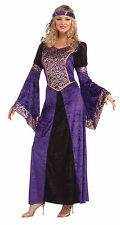 Ladies Medieval Maiden Costume Middle Dark Ages Fancy Dress Outfit