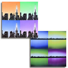cadre new york tableau lumineux avec leds ebay. Black Bedroom Furniture Sets. Home Design Ideas