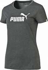 PUMA Damen T-Shirt Large Logo Heather Tee