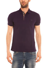 Polo Burberry Polo Shirt % Oxford Uomo Viola 3983699-50480