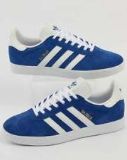 adidas Gazelle Trainers in Royal Blue & White suede retro 3 stripe classic
